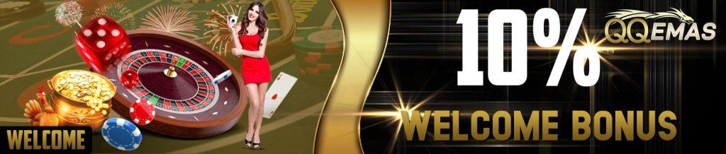welcome bonus 10% Blackjack Online